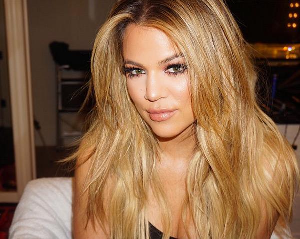 Khloe Kardashian Blonde Blowout