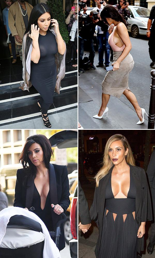 Kim Kardashian Without Bra