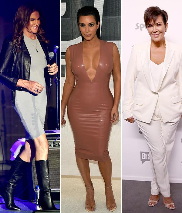 Kim Kardashian Middle Caitlyn Kris Jenner