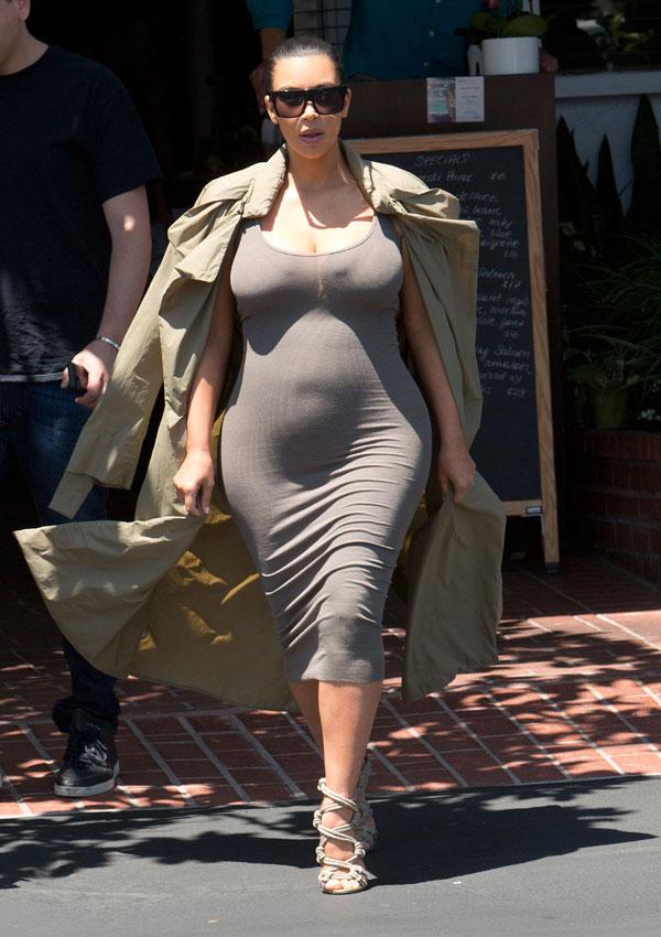 Kim Kardashian Curves Baby