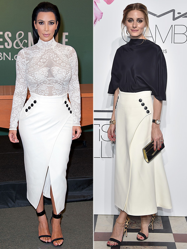 Kim Kardashian White Skirt