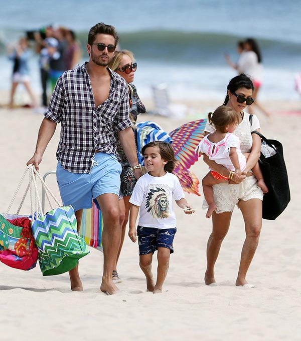 Kourtney Kardashian Family Pictures