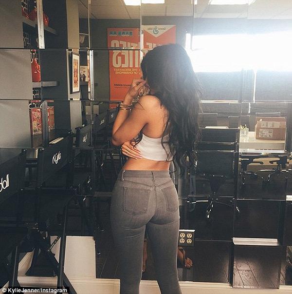 Kylie Jenner Gray Jeans