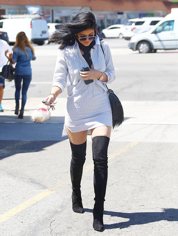 Kylie Jenner Thigh High Boots