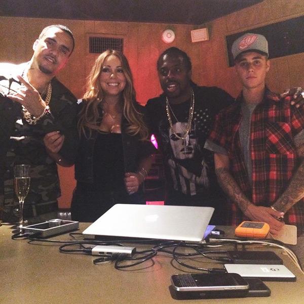 Justin Bieber Crashed Mariah Carey Recording
