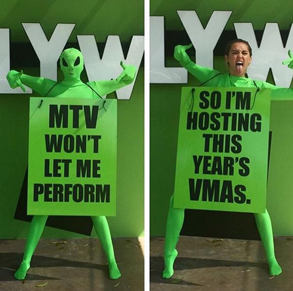 Miley Cyrus Hosting VMAs