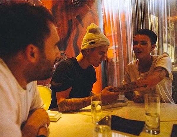 Justin Bieber Ruby Rose Tattoos