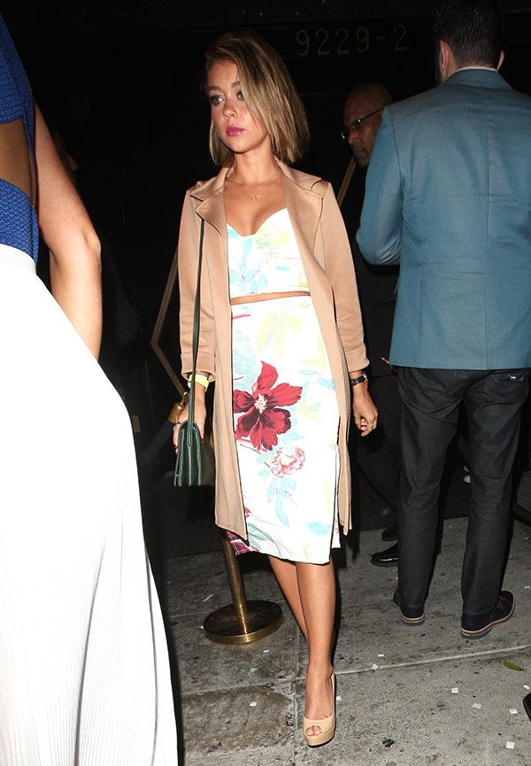 Sarah Hyland Floral Outfit