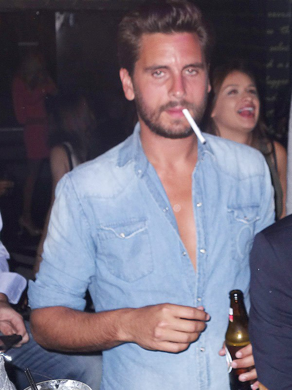 Scott Disick Partying Fourth Of July