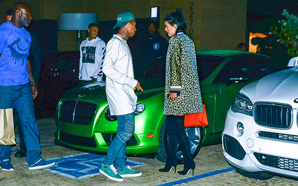 Tyga Supports Kylie Jenner