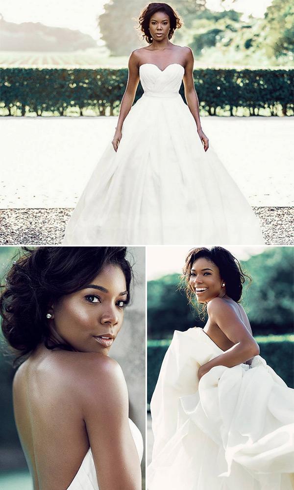 gabrielle union wedding dress pics