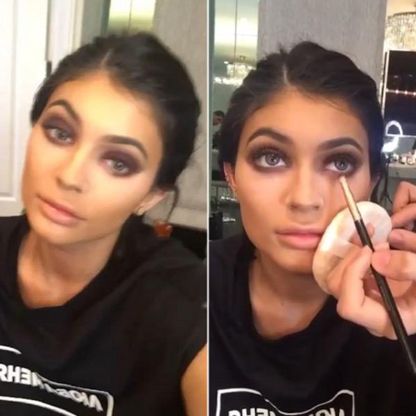 Kylie Jenner Purple Smokey Eye