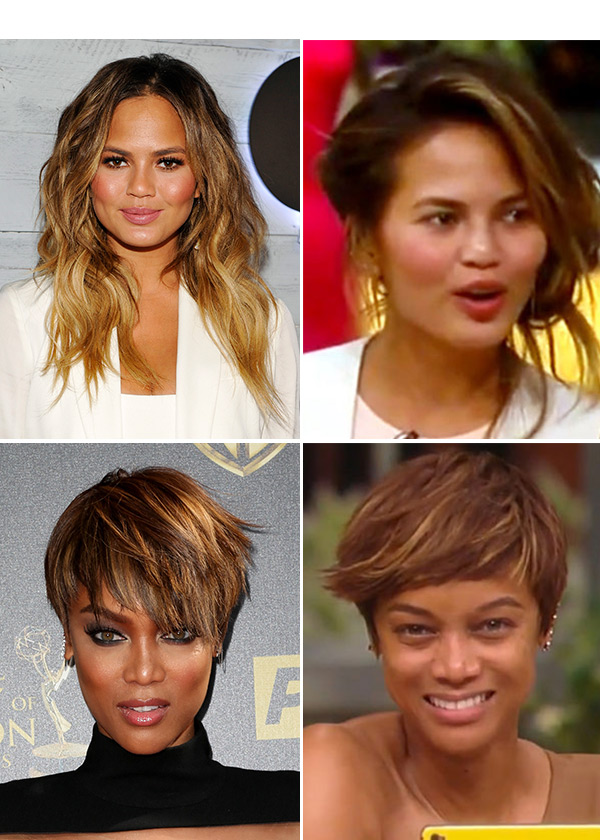Tyra Banks Chrissy Teigen Without Makeup