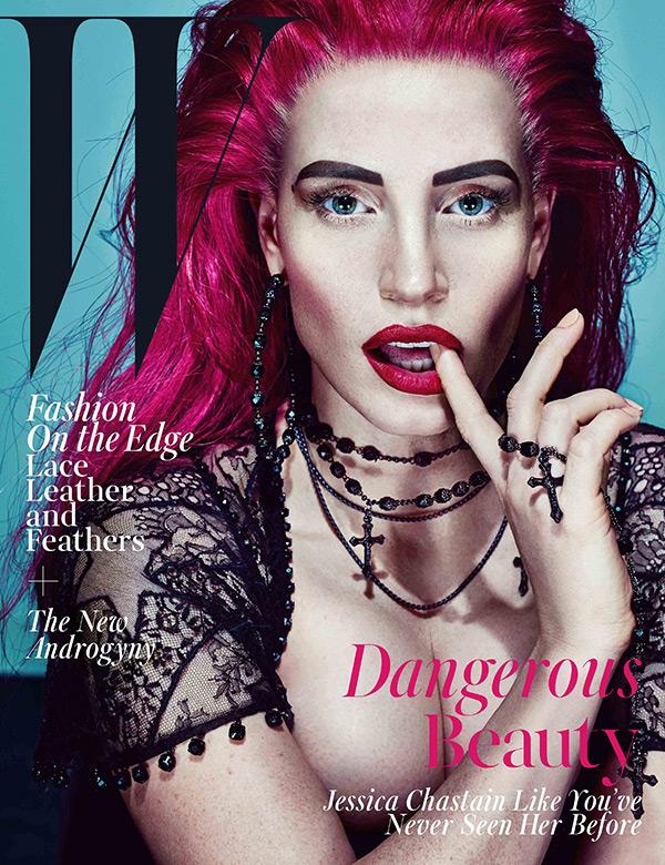 Jessica Chastain W Magazine Cover