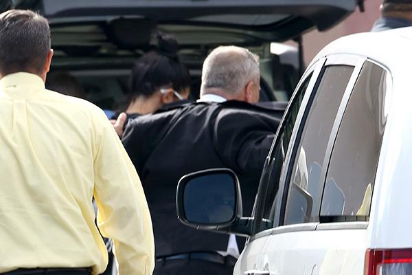 Kendall Jenner Visits Lamar Odom