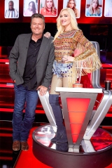 "THE VOICE -- ""Battle Rounds"" -- Pictured: (l-r) Blake Shelton, Gwen Stefani -- (Photo by: Trae Patton/NBC)"