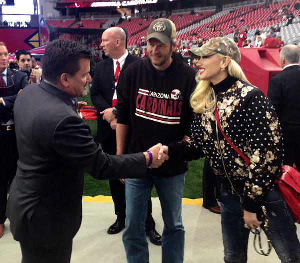 Gwen Stefani Blake Shelton Arizona Cardinals