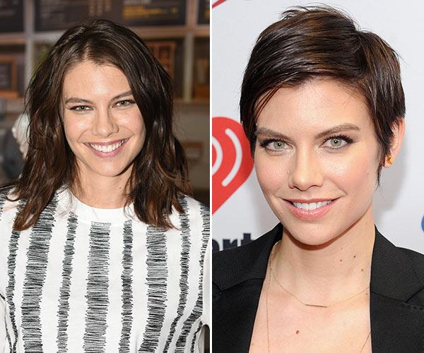 Lauren Cohan S Hair Makeover The Walking Dead Star Rocks Pixie Haircut Hollywood Life