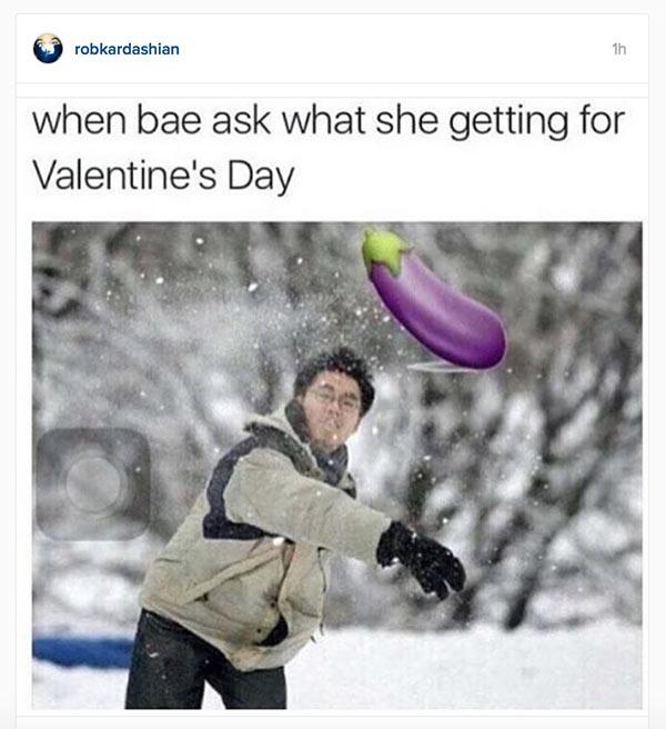 Rob Kardashian Valentines Day Message