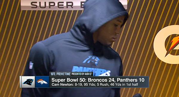 Cam Newton Walks Off