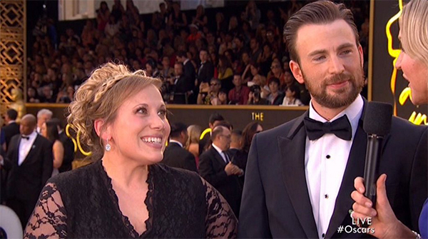 Chris Evans Sister Oscars