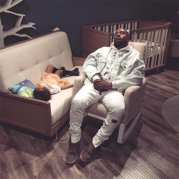 Kanye North West Sleeping