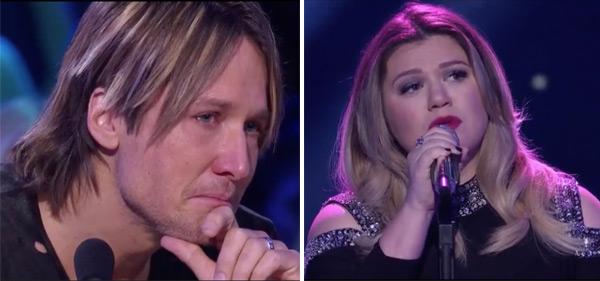 Keith Urban Crying Kelly Clarkson