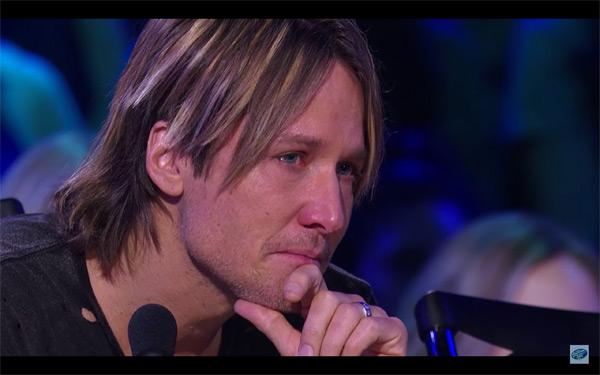 Keith Urban Cries