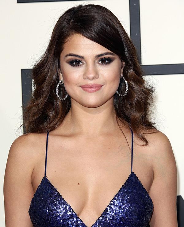 Selena Gomez Grammys Hair Makeup