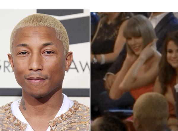 Taylor Swift Flirts Pharrell Grammys
