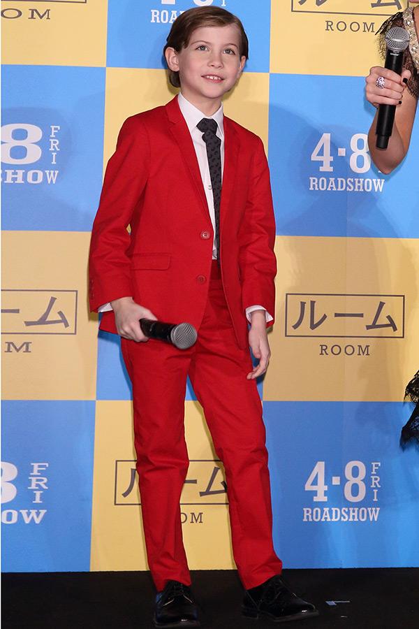 Jacob Tremblay Red Suit Japan
