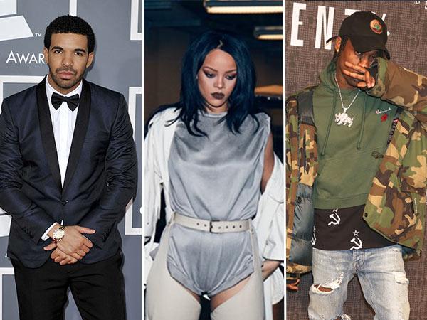 Rihanna Drake Travis Scott