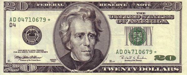 Andrew Jackson Replaced 20 Dollar Bill