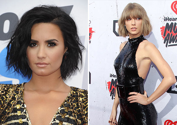 Demi Lovato Disses Taylor Swift I Don T Get Along With Her That S Fine Hollywood Life