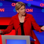 Sen. Elizabeth Warren, D-Mass., participates in the first of two Democratic presidential primary debates hosted by CNN, in the Fox Theatre in Detroit Election 2020 Debate, Detroit, USA - 30 Jul 2019