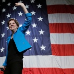 Democratic presidential candidate Sen. Elizabeth Warren, D-Mass., waves after speaking at the Iowa Democratic Wing Ding at the Surf Ballroom, in Clear Lake, Iowa Election 2020 Elizabeth Warren, Clear Lake, USA - 09 Aug 2019