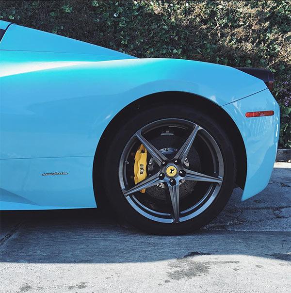 Kylie Jenner Paints Ferrari Blue
