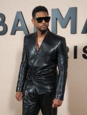 Usher in the front row Balmain show, Front Row, Fall Winter 2020, Paris Fashion Week, France - 28 Feb 2020