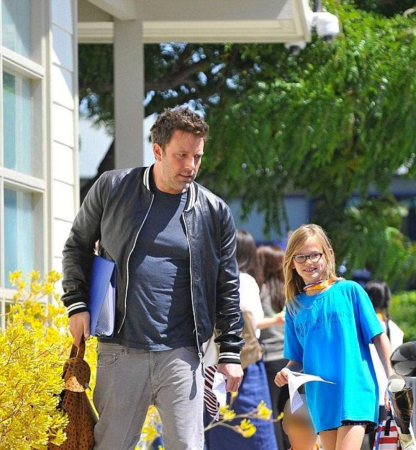 Ben Affleck Happy Daughter Violet