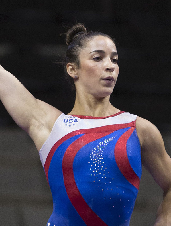 Alexandra Raisman of the United States competes on the