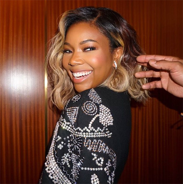 Gabrielle Union S Blonde Hair Makeover See Her New Golden Bob Hollywood Life