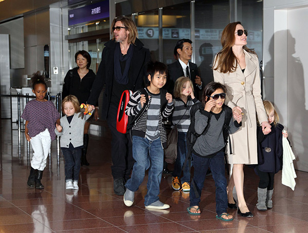 Brad Pitt Sole Physical Custody