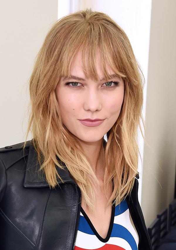 Karlie Kloss New Hair Bangs