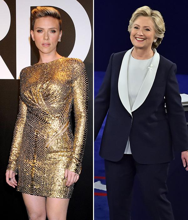 Scarlett Johansson Supports Hillary Clinton