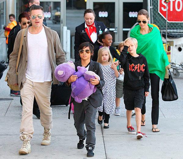 Brad Pitt Angelina Jolie Kids Thanksgiving
