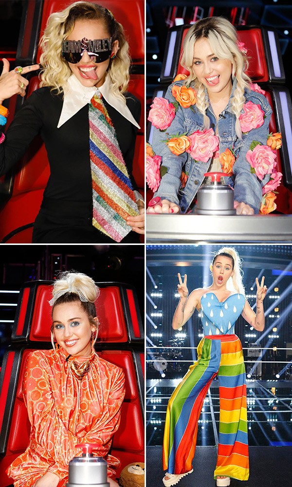 Miley Cyrus Outfits the Voice
