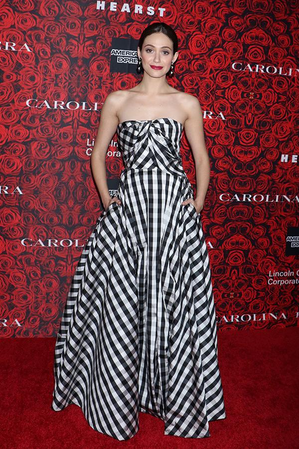 emmy rossum wedding gown designer