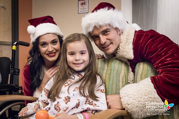 Katy Perry Orlando Bloom Santa