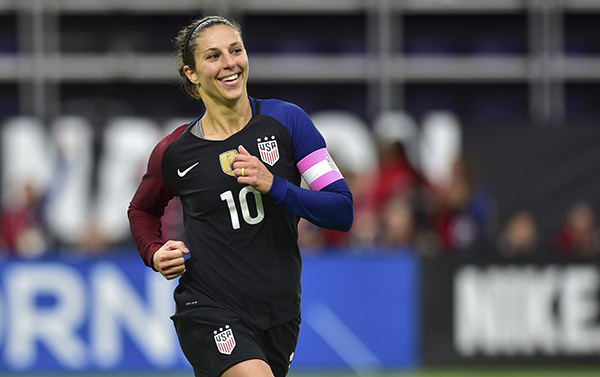 Carli Lloyd Wins FIFA Womens Player Of The Year
