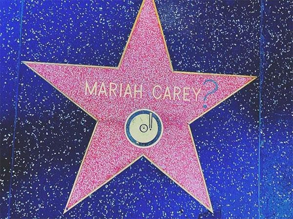 Mariah Carey Star Vandalized